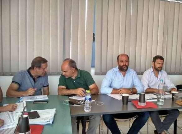 2018.07.17 @ Σύσκεψη για τα έργα της Διεύθυνσης Τεχνικών Έργων της Περιφέρειας  ΠΔΕ