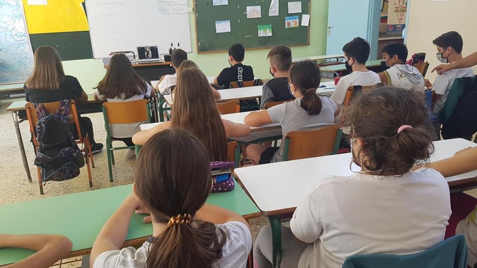 Τηλεδιάσκεψη με την Ολυμπιονίκη Μαρία Τσουρή στο Δημοτικό Σχολείο Σκουροχωρίου - ΗΛΕΙΑ.news